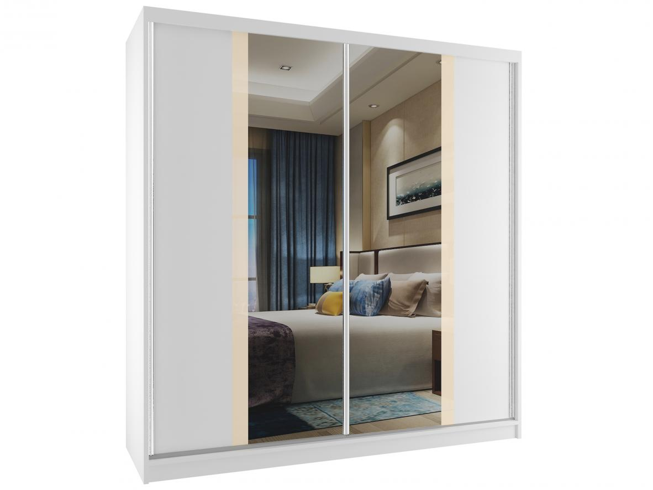 Skříně do ložnice s posuvnými dveřmi 158 cm bílý korpus