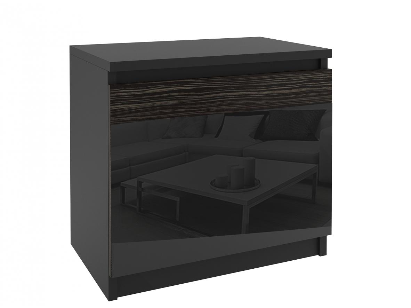 Nočný stolík Aste čierny/eben kráľovský