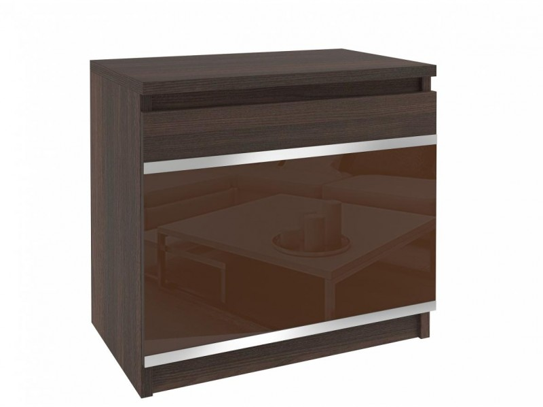 Tmavý noční stolek Meneo kaštan/hnědý