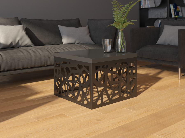 Štvorcový konferenčny stolík čierny Original 60 x 60 cm