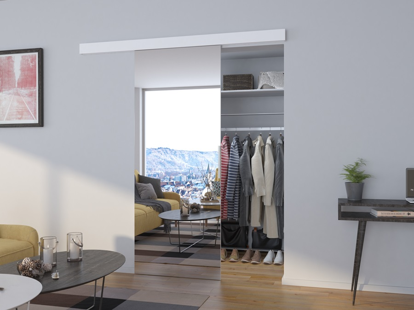 Zrkadlové dvere posuvné Berat - biela