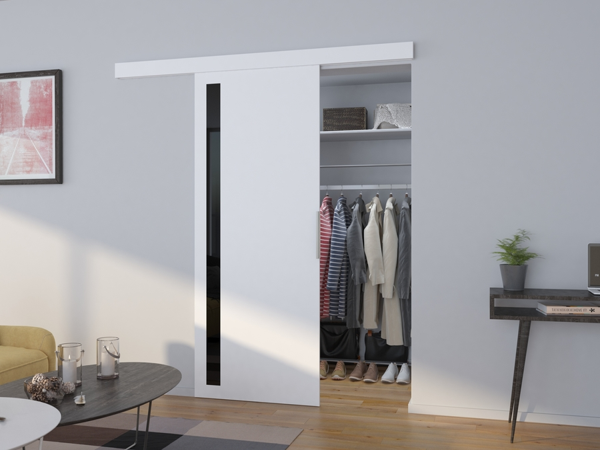 Vnútorné dvere posuvné Dust - biela