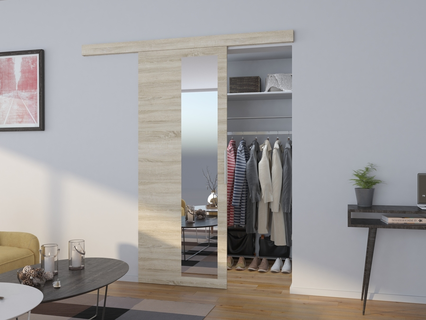 Posuvné dvere zrkadlové Eden - dub sonoma