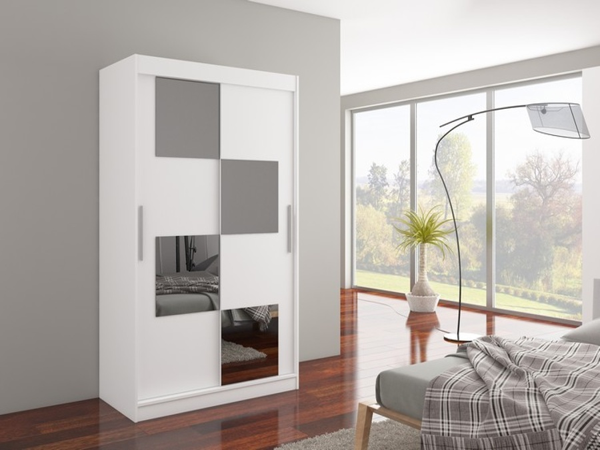 Šatní skříň bílá Maina 120 cm