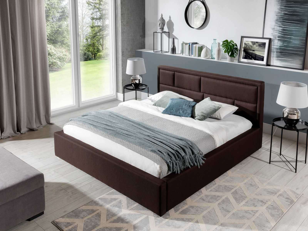Kvalitná čalúnená posteľ 160 x 200 cm Lola