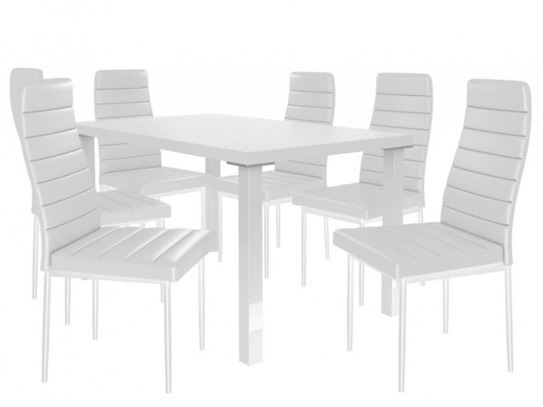 Moderní jídelní stůl se židlemi 6 + 1 Sisa max