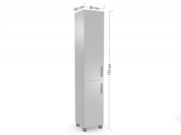 Koupelnová skříňka Moley 30 cm pravé otevírání