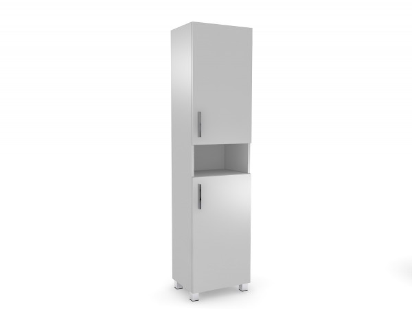 Praktická vysoká skrinka do kúpeľne - pravostranné otváranie