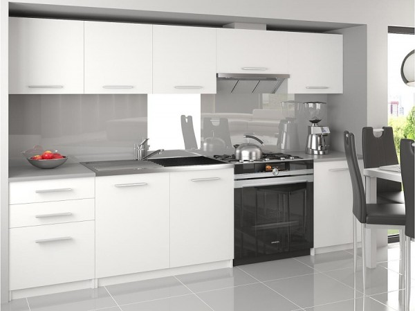 Kuchyňa biela 240 cm Madrid