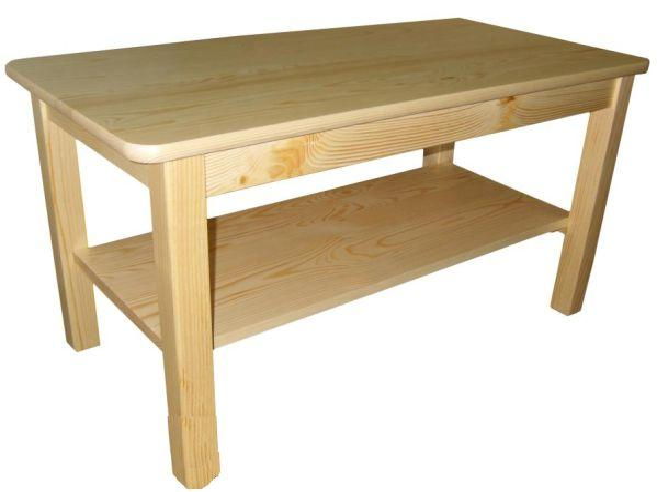 Konferenčný stolík obdĺžnikový drevený 90 x 60 cm