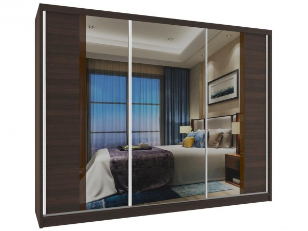Zrcadlová skříň s posuvnými dveřmi Flea 235 cm