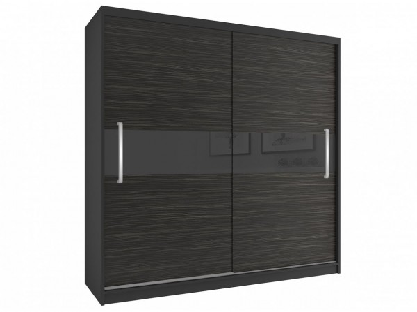 Šatní skříň černá/eben královský Verity 200 cm