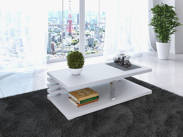Luxusní konferenční stolek Radium - bílý