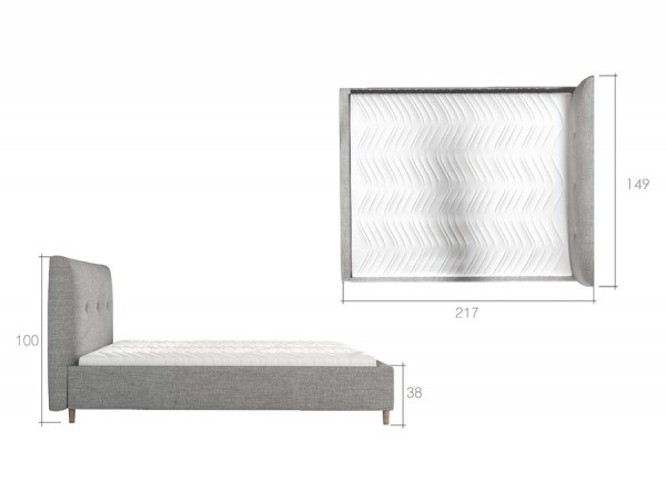 Čalúnená manželská posteľ 140 x 200 cm Anglia