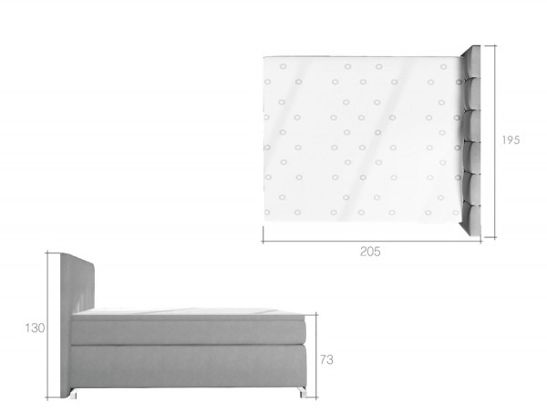 Boxspringová postel 180 x 200 cm s LED podsvícením Ervin