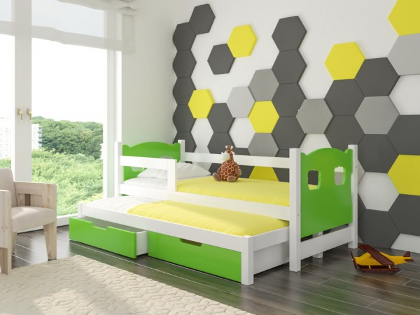 Zelená dětská sestava nábytku Roslin