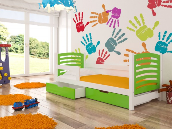 Zelený dětský nábytek do pokoje Doune