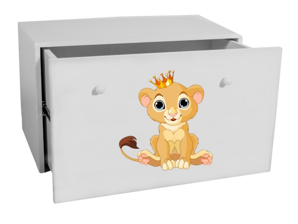 Bílý box na hračky Simba