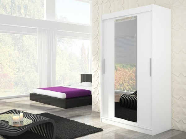 Biela skriňa so zrkadlom Tifa