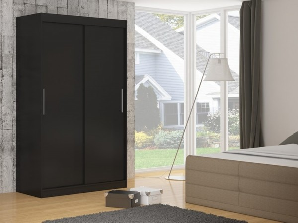 Čierna šatníková skriňa Evora 150 cm