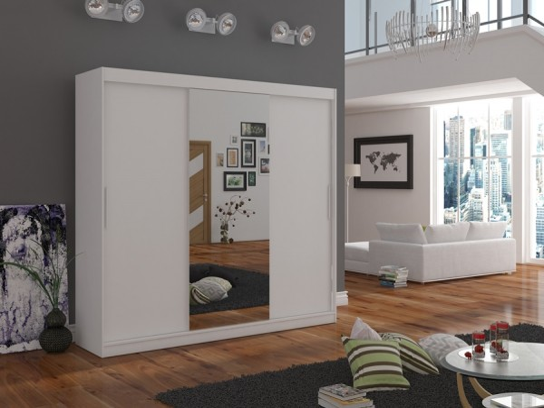 Skříň do ložnice Wangi 215 cm bílá