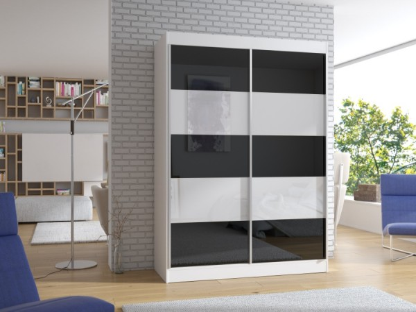Úzká skříň 150 cm v bílé barvě Neda
