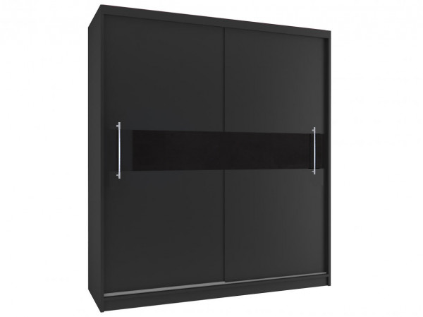 Čierna šatníková skriňa Meryl 200 cm
