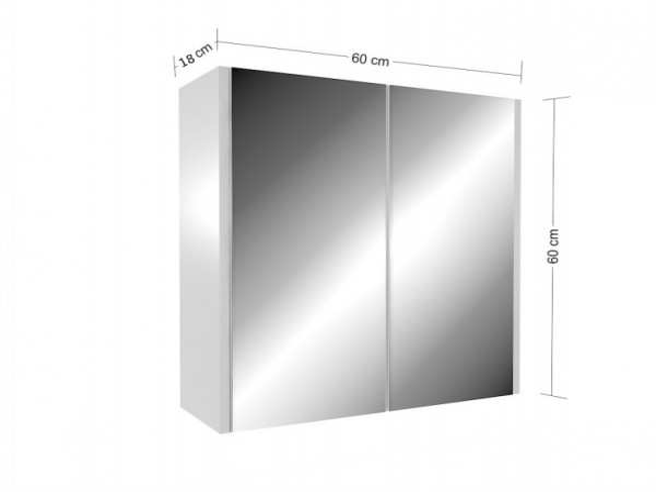 Zrcadlová skříňka Frea bílá