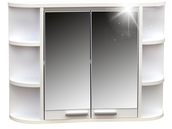 Skrinka zrkadlová do kúpeľne Nillo