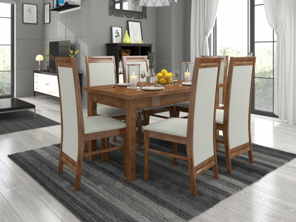 Kuchyňský stůl a židle Vedia dub lefkas